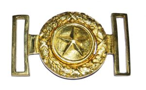 Texas Confederate Plate & Spoon Belt Buckle